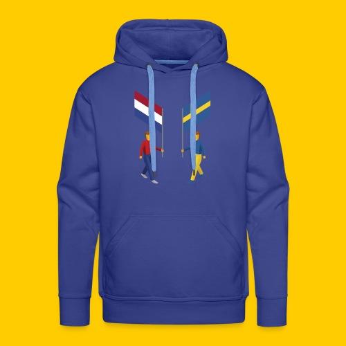 Walking with flags - Mannen Premium hoodie
