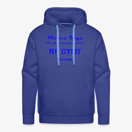 NRgyfit Team bleu Tshirt by NR'gyfit Nature - Sweat-shirt à capuche Premium pour hommes
