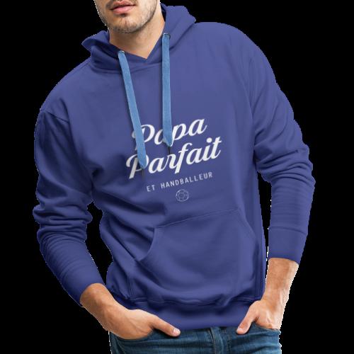 Papa parfait et handballeur - Sweat-shirt à capuche Premium pour hommes