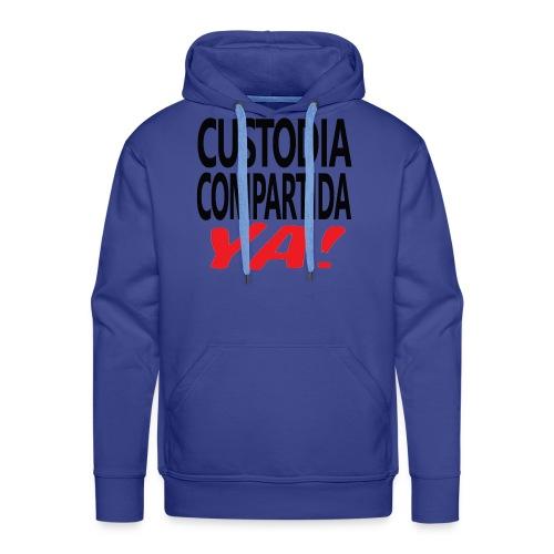 Custodia Compartida YA Negro - Sudadera con capucha premium para hombre