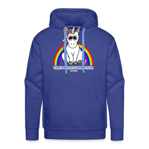 Einhorn Tekkno Regenbogen - Männer Premium Hoodie