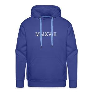 MMXVII - design - Sweat-shirt à capuche Premium pour hommes
