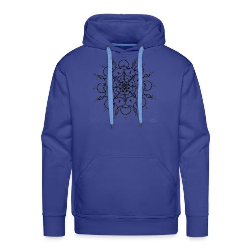 Mandala noir - Sweat-shirt à capuche Premium pour hommes