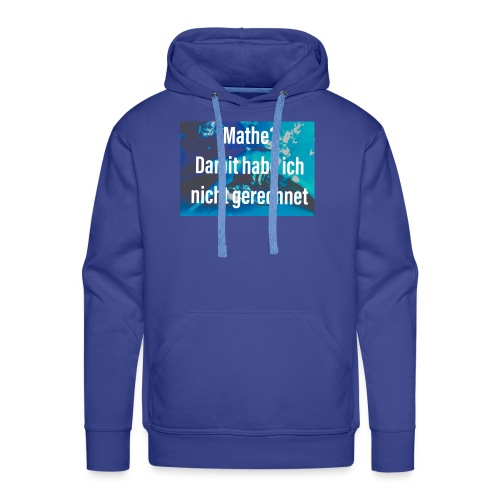 Mathe - Männer Premium Hoodie