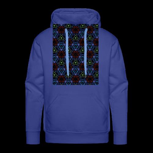 symmetric colourful roses pattern - Men's Premium Hoodie