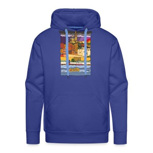 Marseille mon amour - Sweat-shirt à capuche Premium pour hommes