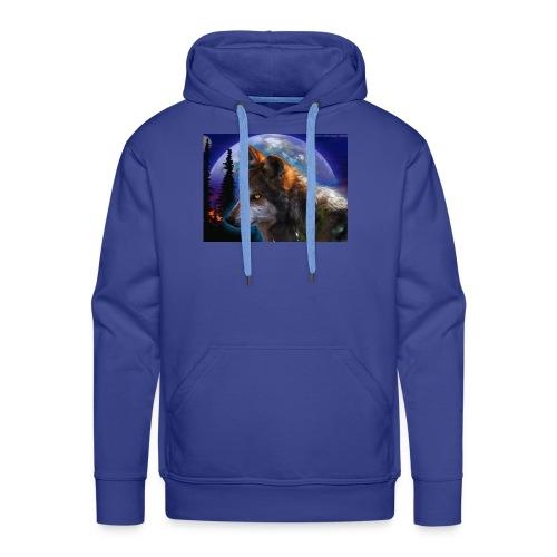 magnifique loup - Sweat-shirt à capuche Premium pour hommes