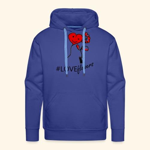 #loveflowers - Felpa con cappuccio premium da uomo