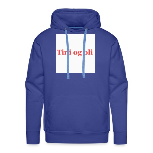 Tini og oli merch - Premium hettegenser for menn