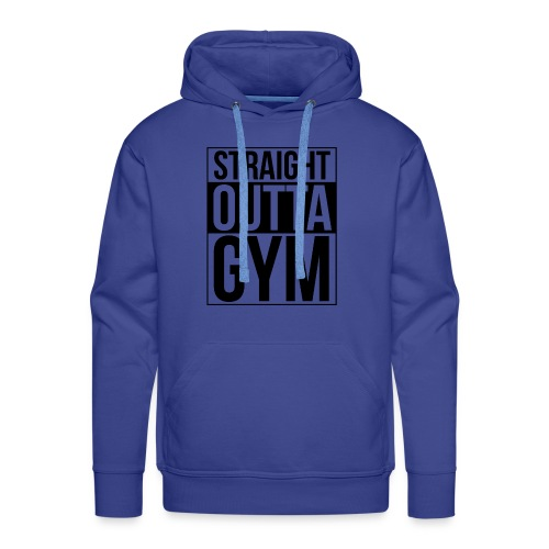 Straight Outta Gym Design. - Men's Premium Hoodie
