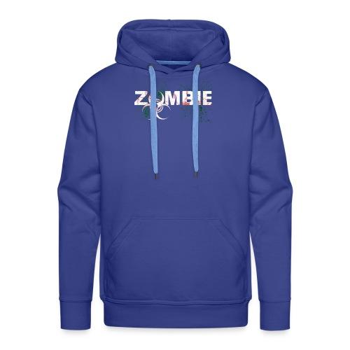 Zombie mit BioHazard Symbol Weiße Schrift - Männer Premium Hoodie
