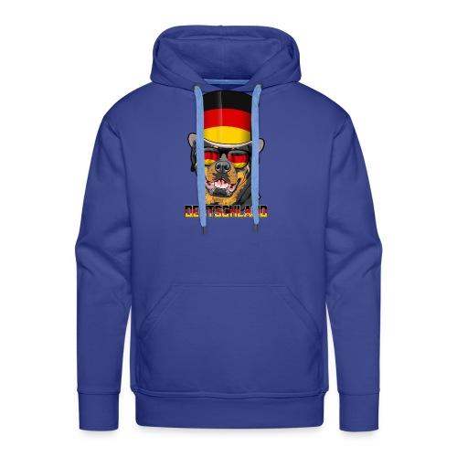 Cooler Deutschland Rottweiler mit Hut und Brille - Männer Premium Hoodie