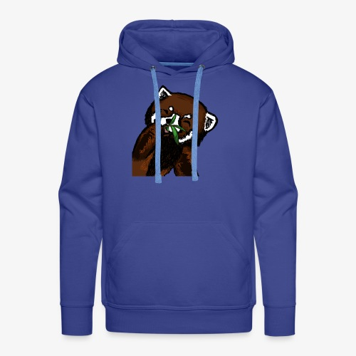 Cute red panda with Bamboo Wildlife T-Shirt - Men's Premium Hoodie