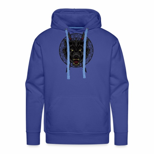 Black Wolf T-Shirt Arrows Angry Wolves Canine Dog - Men's Premium Hoodie