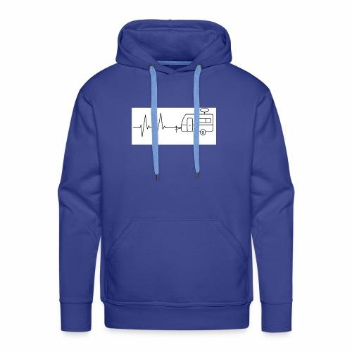 EKG ,Wohnwagen, Herzschlag, Camping, Rhythmus - Männer Premium Hoodie