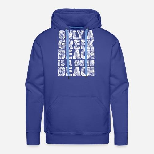 BEACH white - Männer Premium Hoodie