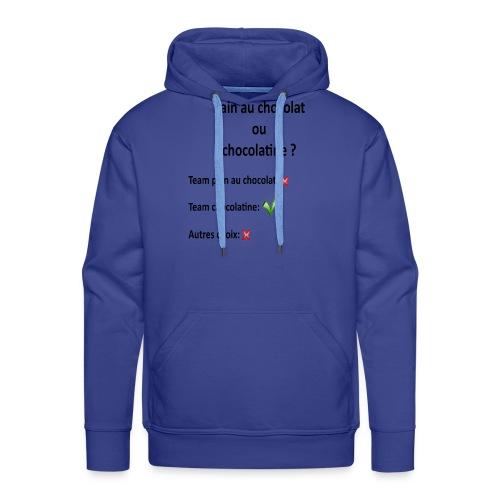 Pain au chocolat ou chocolatine ? - Sweat-shirt à capuche Premium pour hommes