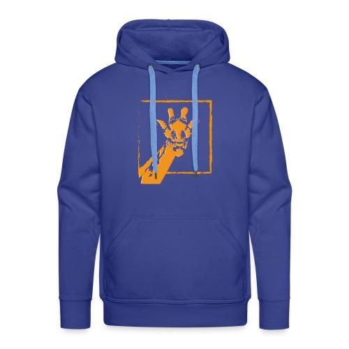 giraffe strichzeichnung orange - Männer Premium Hoodie