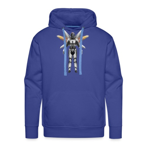 Robot with wings - Men's Premium Hoodie
