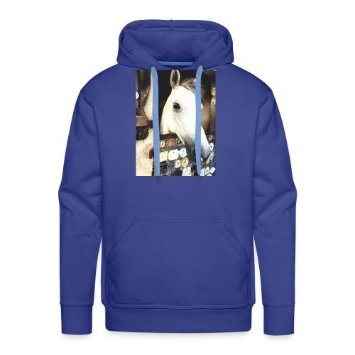 wit paard - Mannen Premium hoodie