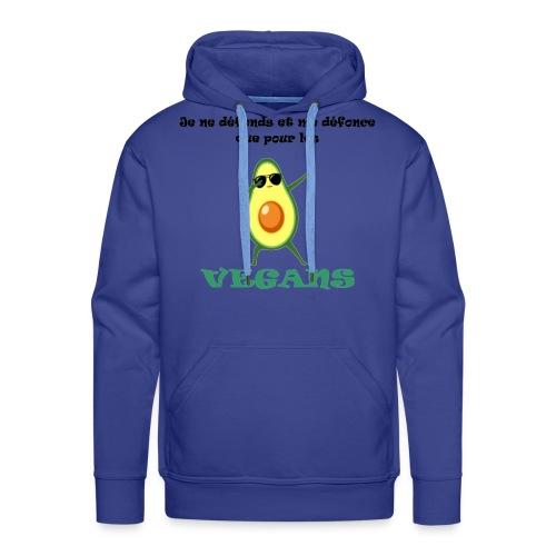 avocat vegan - Sweat-shirt à capuche Premium pour hommes