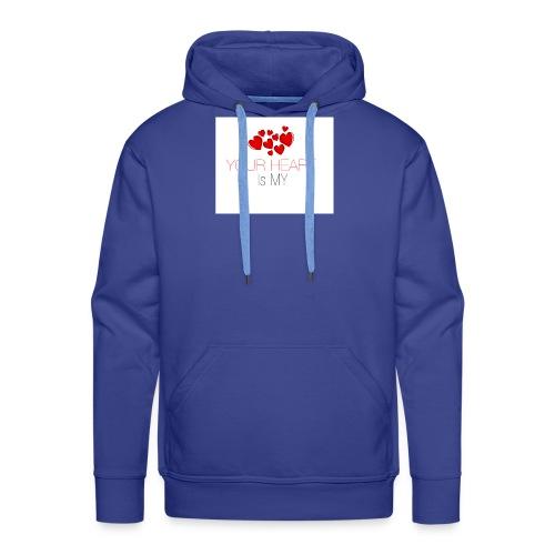 heart - Bluza męska Premium z kapturem