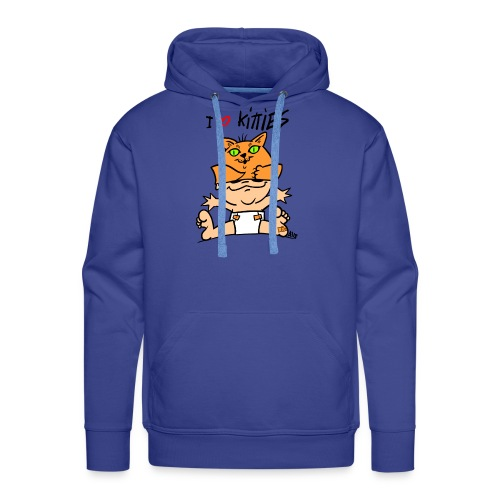 baby i love kitties color - Mannen Premium hoodie
