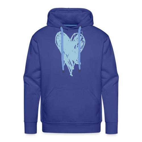Cœur et amour pour dire je t'aime, i love you - Sweat-shirt à capuche Premium pour hommes