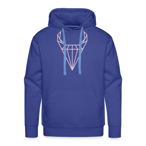 CRSTL BLL wz1 fuxia - Bluza męska Premium z kapturem