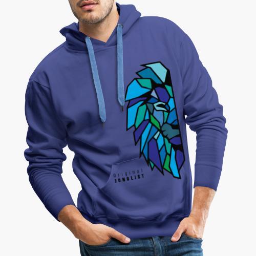Lion's Head [blue] - Bluza męska Premium z kapturem