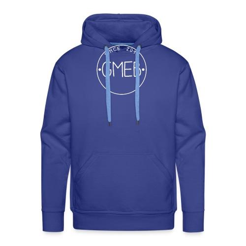 doorschijnend LOGO WIT - Mannen Premium hoodie