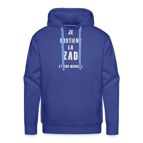je soutiens la ZAD 1 - Sweat-shirt à capuche Premium pour hommes