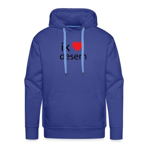ik houd van desem - Mannen Premium hoodie