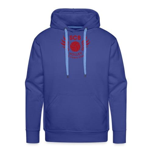 LogosVolleyBall MonochromeRouge - Sweat-shirt à capuche Premium pour hommes
