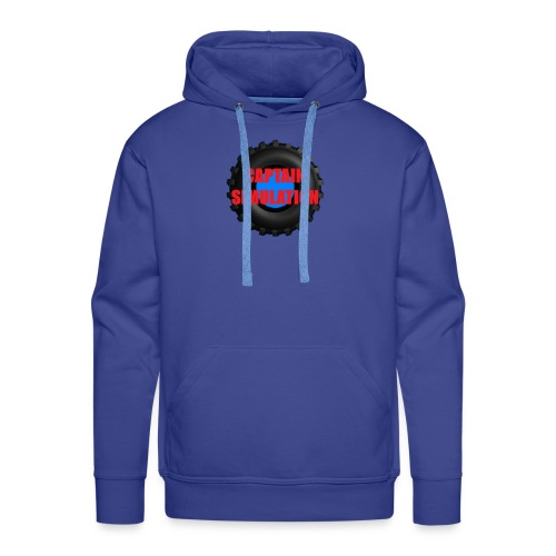 Logo with no blue background - Men's Premium Hoodie
