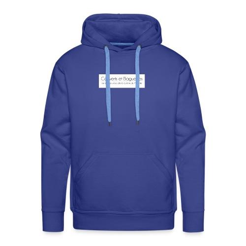 Couverts et Baguettes - Sweat-shirt à capuche Premium pour hommes