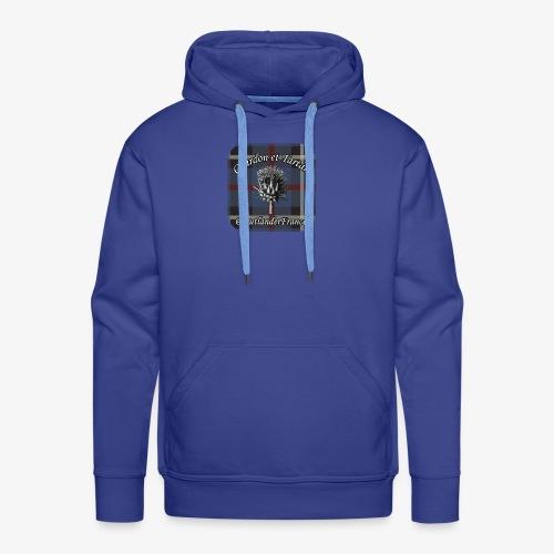 Chardon et Tartan vector logo high res - Sweat-shirt à capuche Premium pour hommes