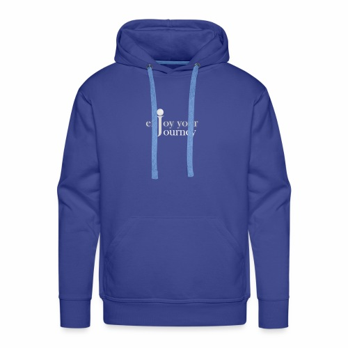 enjoy your journey Logo - weiß - Männer Premium Hoodie