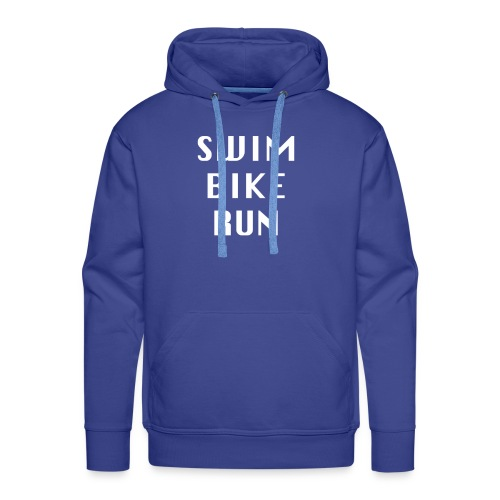 SWIM BIKE RUN Design Triathlon, Triathlet - Männer Premium Hoodie