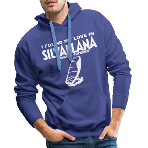 I found my love in Silvaplana, Windsurfing - Männer Premium Hoodie