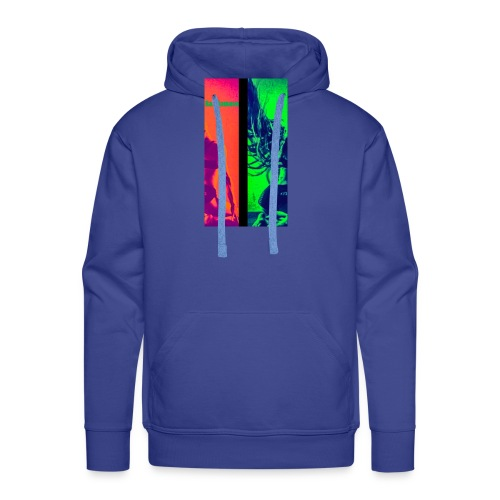 Pop-Art Double Flash Color twist New Neon - Männer Premium Hoodie