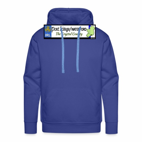 WATERFORD, IRELAND: licence plate tag style decal - Men's Premium Hoodie