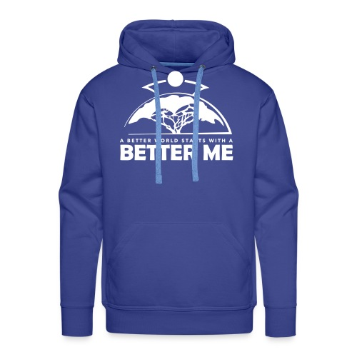 Better Me - White - Men's Premium Hoodie