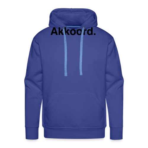 Akkoord - Mannen Premium hoodie