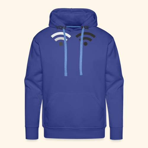 You vs. Me, Bad Wifi - Men's Premium Hoodie