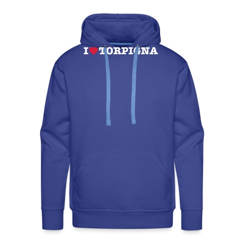 I Love TorPigna - Felpa con cappuccio premium da uomo