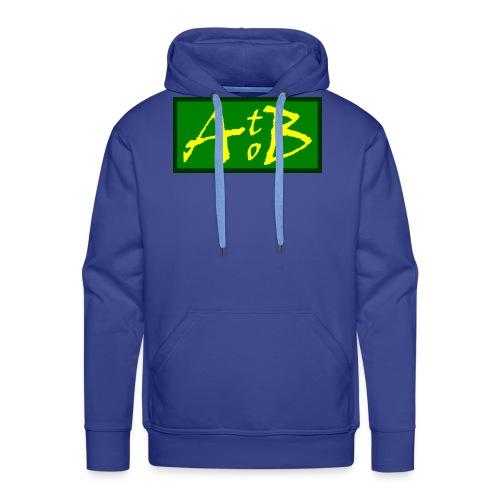 AtoB Logo green / yellow - Men's Premium Hoodie