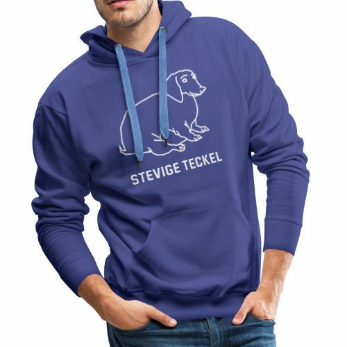 Stevige Teckel - Mannen Premium hoodie
