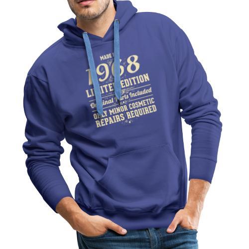 Gemaakt in 1968 persoonlijk cadeau - Mannen Premium hoodie