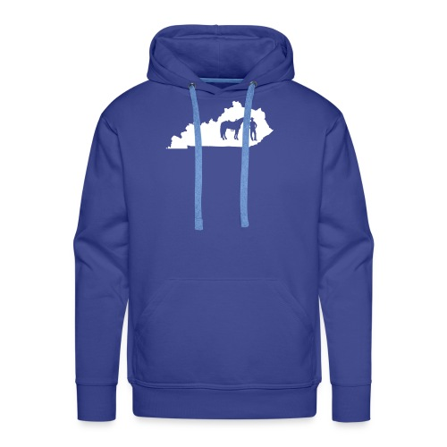 Awesome Kentucky Horse Map Riding Horseback Horse - Männer Premium Hoodie